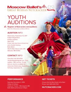 Moscow Ballet Great Nutcracker Auditions