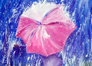 Painting at Mallory's - Dancing in the Rain