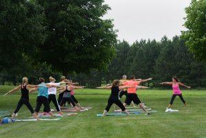 Outdoor Yoga at Lake Elmo Park Reserve