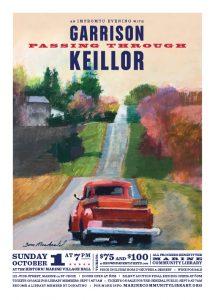 GARRISON KEILLOR - Passing Through + Silent Auction