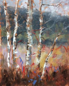 Painting With Friends--Birch Trees
