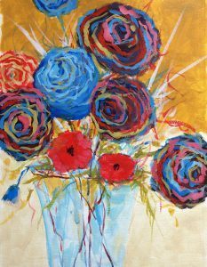 Painting With Friends-Blue Flowers