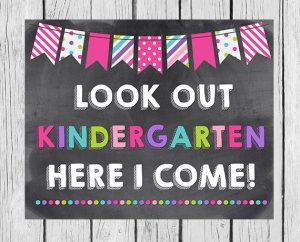 Kindergarten, Here We Come!