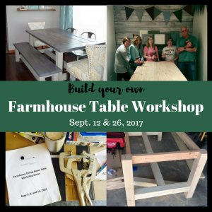 Sawdust Savvy Build-Your-Own Farmhouse Table Workshop
