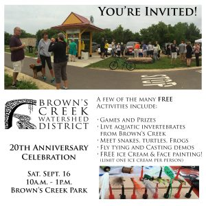 Brown's Creek Watershed District 20th Anniversary Celebration