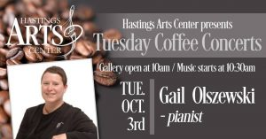 Tuesday Morning Coffee Concert featuring Gail Olszewki on the piano