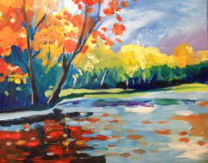 Painting at the Freight House - Lake Scene