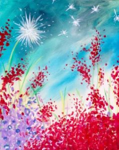 Wine & Canvas - Wildflowers