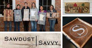 Stillwater Ladies Night Out at Sawdust Savvy - DIY Custom Wood Signs Workshop