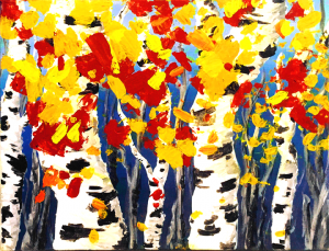 Paint Fall Birch Trees at the Freight House