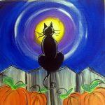 Painting a Halloween Cat at Mallard's on the St. C...