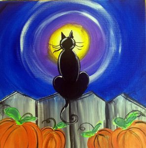 Painting a Halloween Cat at Mallard's on the St. C...