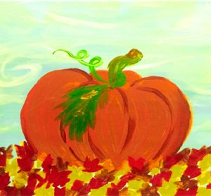 Painting Pumpkin Fun at the Freight House