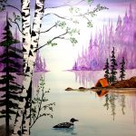 Painting Loon Lake at Mallard's on the St Croix
