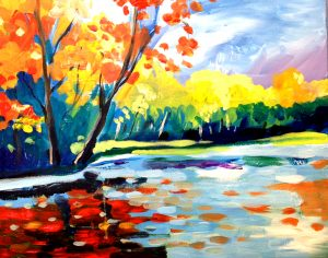 Painting the Peak of Fall on the St Croix