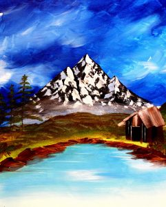 Paint Sip Nosh: Painting Majestic Mountain at Mall...
