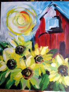 Paint Sip Nosh: Painting Red Barn at the Water St....