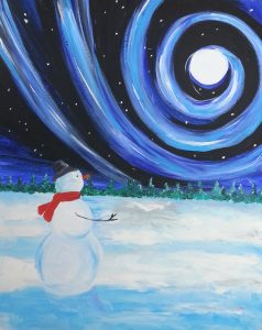Paint Sip Nosh: Paint a Swirling Snowman at Mallards on the St. Croix