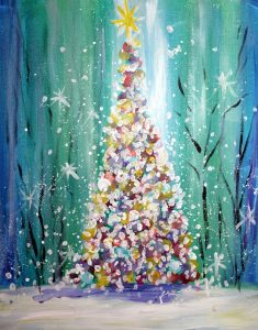 Paint Sip Nosh: Oh Christmas Tree at the Freight H...