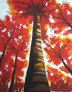 Paint Sip Nosh: Fall Trees with Half Priced Wine at Mallards