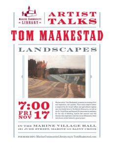 Artist Talk: Tom Maakestad - Landscapes