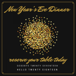 New Year's Eve Dinner at Chilkoot Cafe