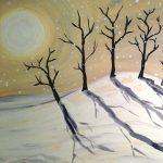 "Paint Sip Nosh at Water St. Inn - ""Moonlit Trees"""
