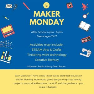 Maker Monday for Teens
