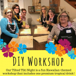 Sawdust Savvy DIY Wood Sign Workshop with The Tilted Tiki