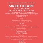 Sweetheart Wine Dinner