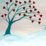 Painting a Heart Tree and a Pint at the Freight House