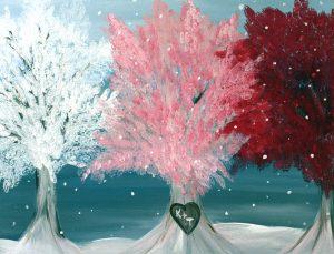 Painting Romance Trees at Mallards on the St. Croix