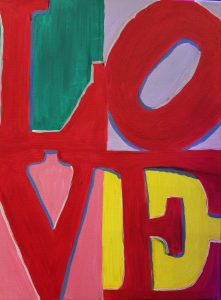 """Paint with Friends or your Sweetheart - """"L O V E"""""""