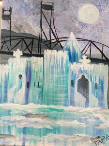 "Paint Sip Nosh at Mallards on the St. Croix - ""Stillwater Bridge and Ice"""