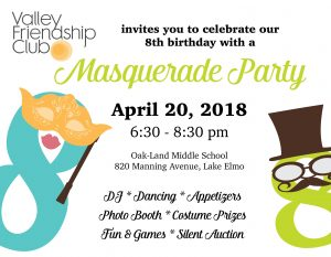 Masquerade Party Celebrating Valley Friendship Club's 8th Birthday