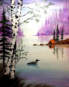 Paint Sip Nosh at the Freight House: Loon Lake