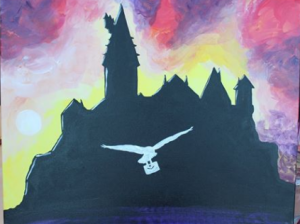 Paint Sip Nosh at Mallard's on the St. Croix: Hogwarts