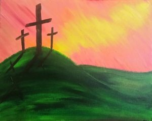 Painting at Mallards on the St Croix: Three Crosses