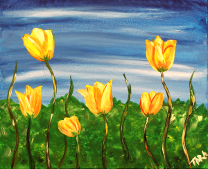 Paint Tulips at Mallory's