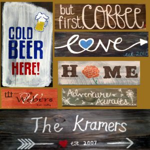 """Painting and a Pint at the Freight House- """"Wood Signs"""""""