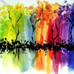 """Painting on the St Croix - """"Abstract Color Trees"""""""