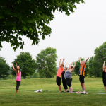 Outdoor Yoga at Lake Elmo Park Reserve