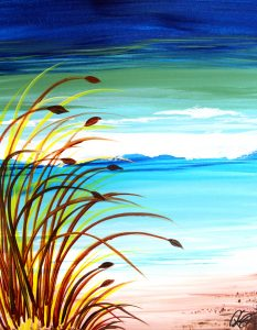 """Painting on the St. Croix - """"Beach Grass"""""""