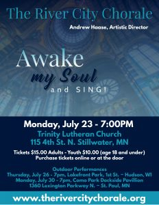 River City Chorale Summer Concert: Awake My Soul and Sing