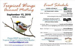 Tropical Wings Annual Meeting