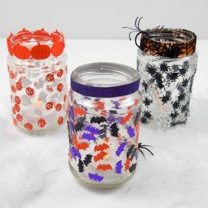 Make Halloween Jar Lanterns