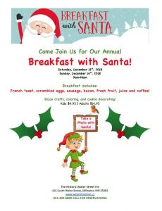 Breakfast with Santa at Water Street Inn