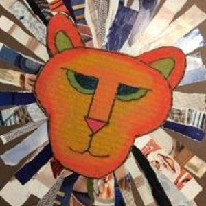 Torn Paper Lions - Collage Art for Kids (Grades K-5)