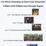 Live Music Saturdays at Saint Croix Vineyards!