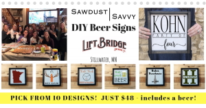 DIY Beer Signs @Lift Bridge Brewery